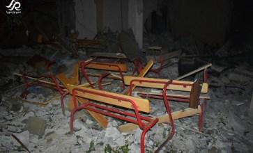 قبل قذائف حقد الأسد.. كان هنا مدرسة وطلاب علم – حمص – عدسة حسن الأسمر