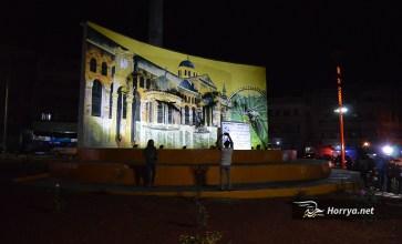 """""""دوار المحراب"""" لوحة إبداعية تتجلى فيها روح التضامن الثوري بمحافظة إدلب"""