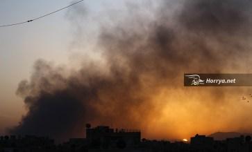 على وقع قصف قوات الأسد.. غروب الشمس في مدينة دوما – عدسة عمران الدوماني