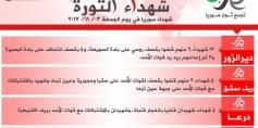 شهداء الثورة: الجمعة 03-11-2017