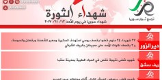 شهداء الثورة: الأحد 12-11-2017