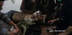 مذبحة الغوطة.. 121 شهيداً ومئات الجرحى بقصف قوات الأسد وبوتين