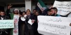 مظاهرة لأهالي الرستن تضامناً مع الغوطة الشرقية