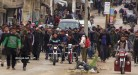 """مظاهرة في الرستن تجبر """"تحرير الشام"""" على الخروج من المدينة"""