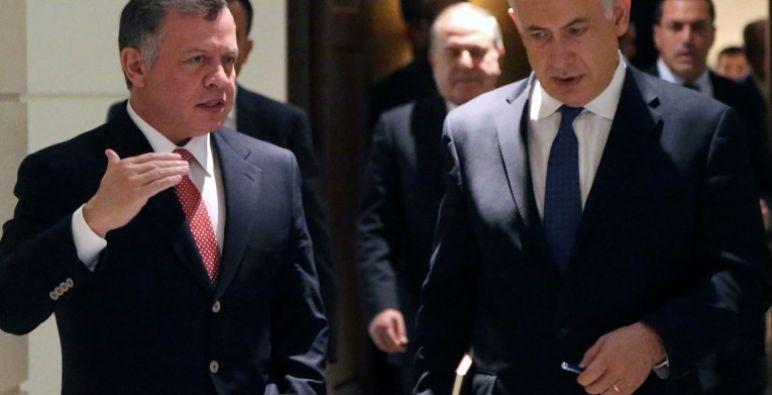 """""""نتنياهو"""" يجري مباحثات مع العاهل الأردني في عمان"""