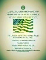 American Legion Flag retirement
