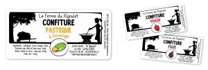 Confiture paysanne // Étiquettes