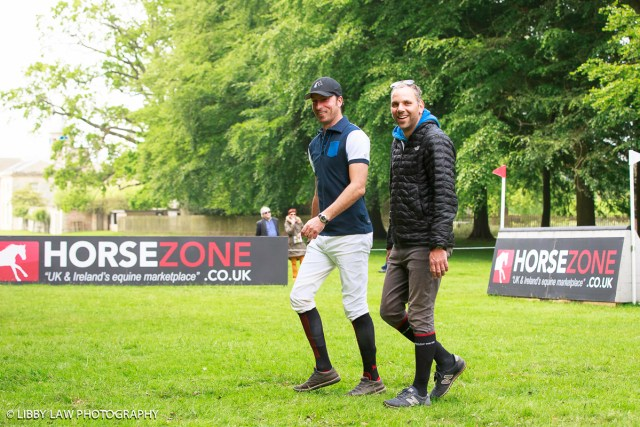 Walk this way.... Tim and Brazilian Carlos Paro (Image: Libby Law)