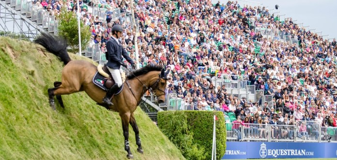 The Hickstead Derby includes the famous bank