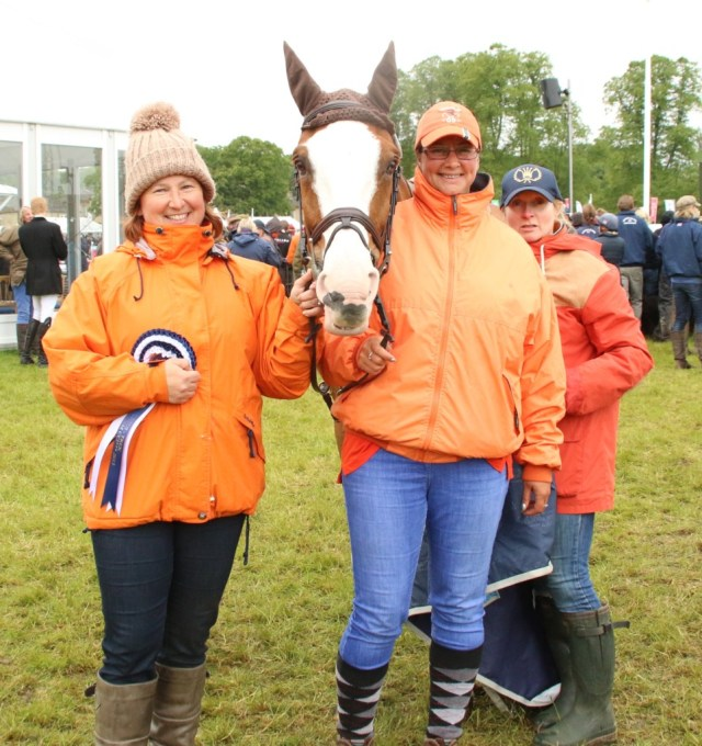 Alex Phillips (left) with the rest of the Orange team with Perfect Stranger at Bramham 2015