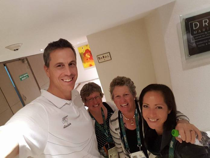 Rob Waddell NZ Olympic Team's Chef de Mission, Jane, Helen and Libby. (Image: Rob Waddell)