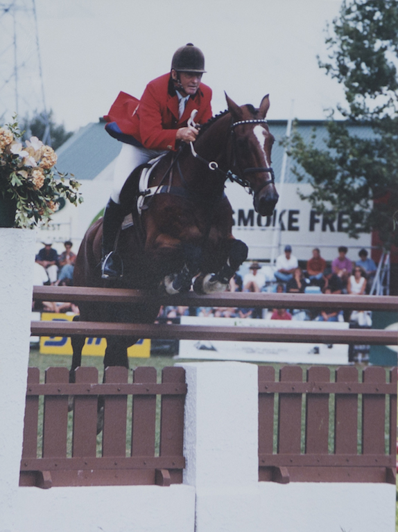 David Goodin and Matahuru, who was on the show jumping squad for the Seoul Olympics (NZHP)