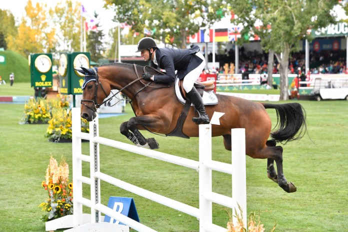 Rolex Grand Prix McLain Ward and HH Azur from the USA (Image: Rolex / Kit Houghton)