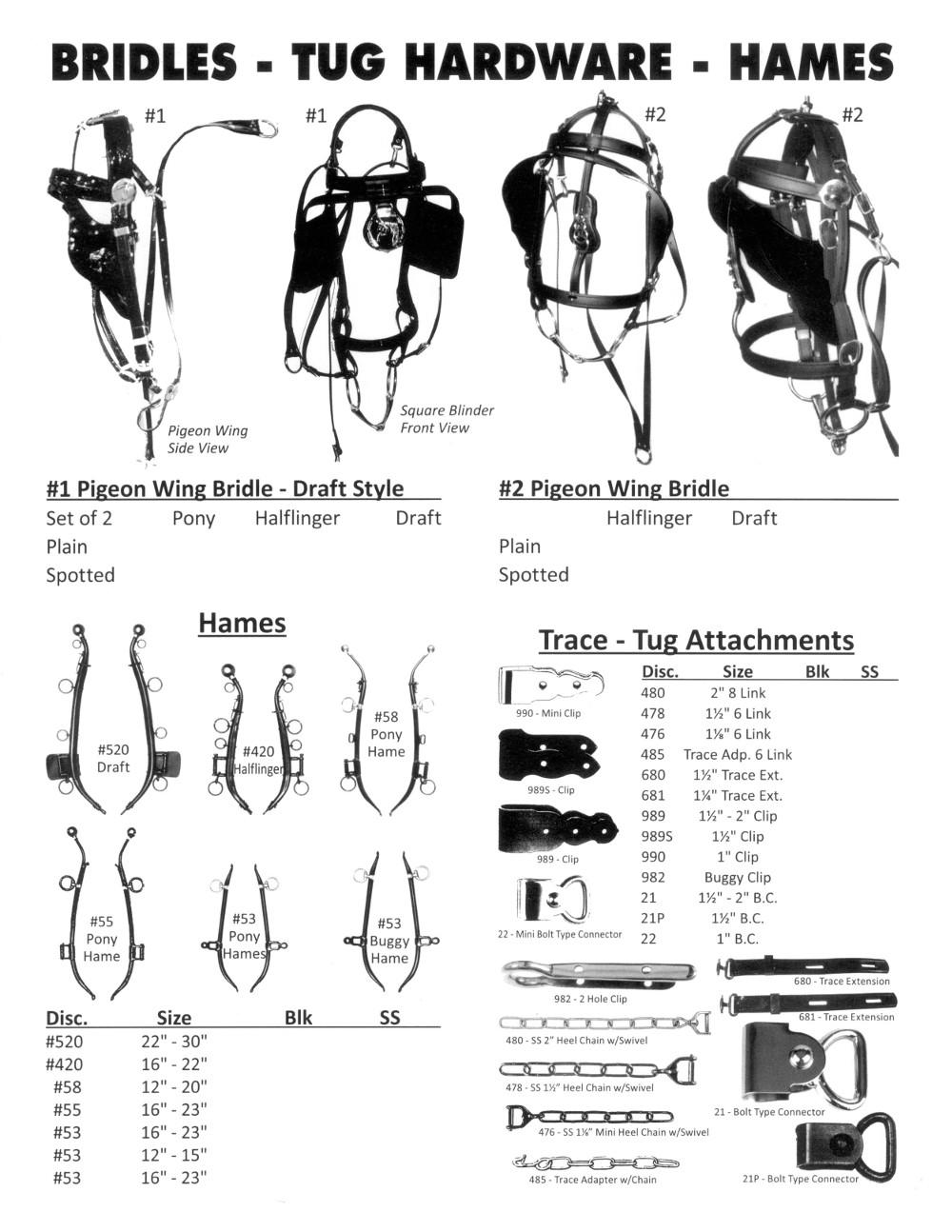 Bridles, Tug Hardware, and Hames