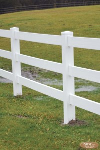 Vinyl Ranch Rail Fence  Horse Farm Services