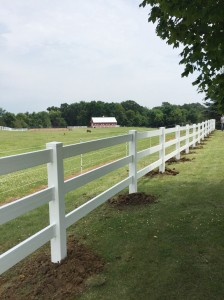 Vinyl Ranch Rail Fence  Horse Farm Services