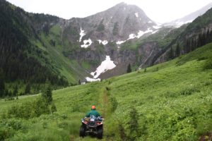 Trail on the 4th Annual ATV Poker Run