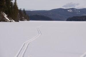 ski trail on Horsefly Lake