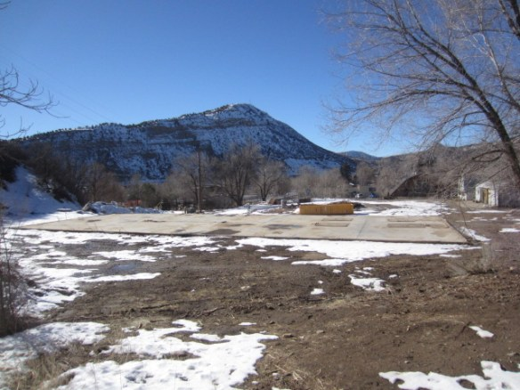 After the old Building Specialties shed was removed, this is how it looked. The City of Durango now owns a small parcel at the Horse Gulch trail head all around where the shed used to sit.