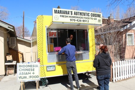 Customers place orders at Mariana's Authentic Cuisine on 3/7/2013.