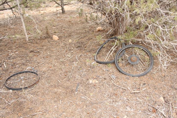 Homeless bike parts.