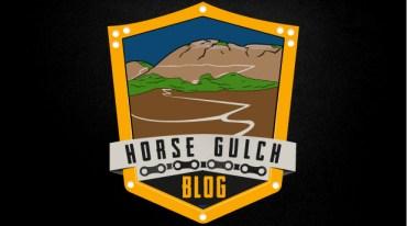 Austin Hatala's final colored logo design for Horse Gulch Blog LLC.
