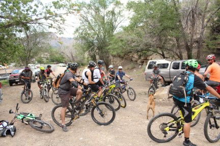 This plan had plenty of support from the local mountain biking community on its opening day.
