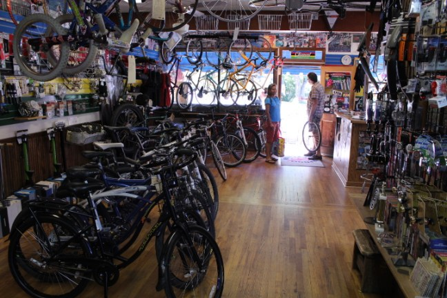 Inside Durango Cyclery.