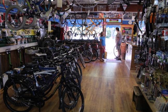Inside Durango Cyclery.