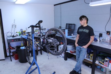 Anthony Diaz at his DSD shop.