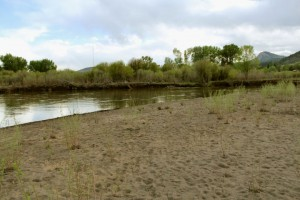 A beach that the City of Durango now owns at Oxbow Park and Preserve sits empty.