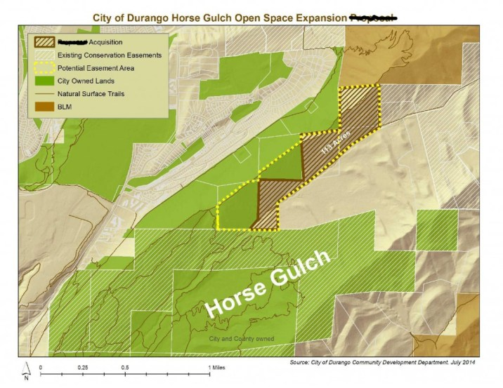 Map courtesy of the City of Durango. Crossed out words done by Adam Howell.