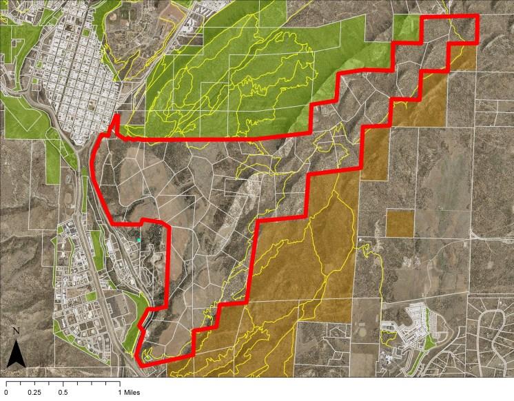 Ewing Mesa Boundary map