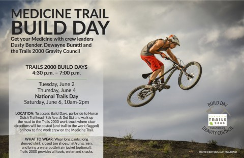 Three Medicine Trail build days this week.