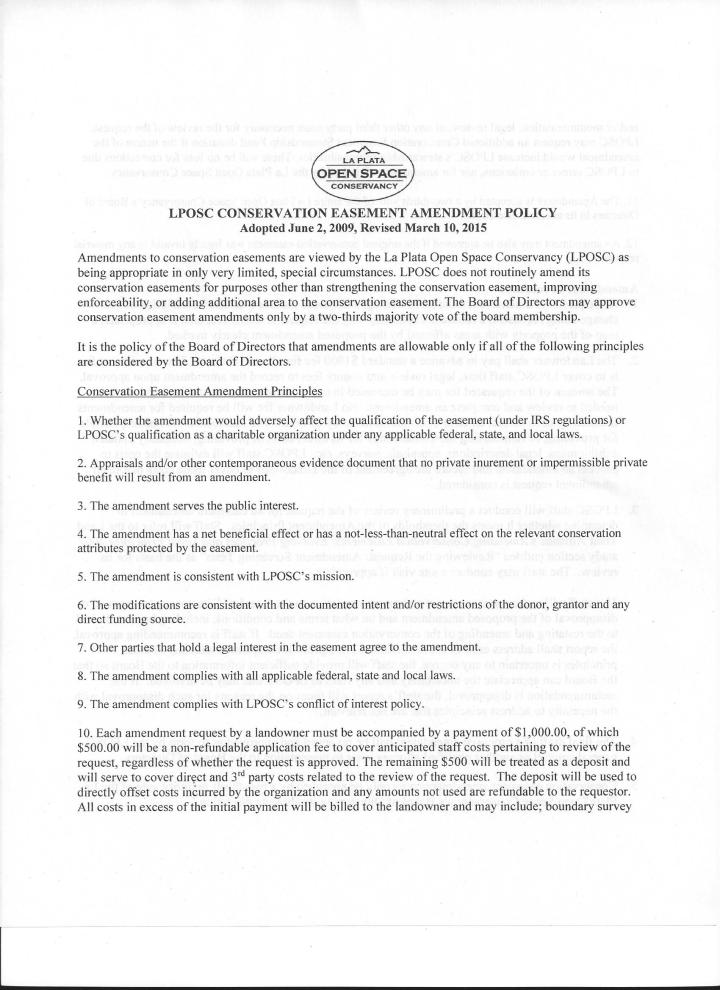 LPOSC Amendment Policy