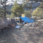 Camp host encampment on county land above Manna Soup Kitchen