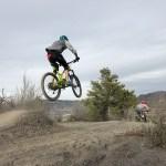 Scenes of Durango Devo Flyers learning to fly, freeride mountain bike culture