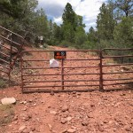 This gate was put up by Ed Zink.