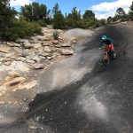Scenes of riding black dirt on Raider Ridge