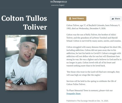 Misreporting evident in Colton's obituary