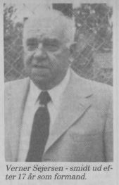 Verner Sejersen - smidt ud efter 17 år som formand.