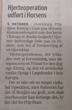 Notits fra Horsens Folkeblad d. 5. oktober 1949