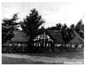 """""""Stensballehus"""", Bygaden 87, hvor Brugsen havde sin start i 1909"""