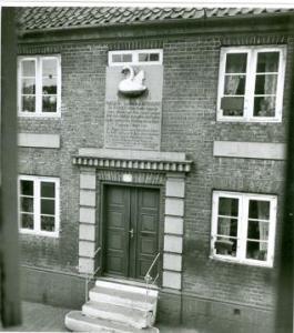 Svaneboligen, opført i 1785 af Anna Hansdatter Svane, som den så ud i 1943.