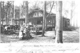 Pavillonen i Elbækskov. Postkort fra 1905.
