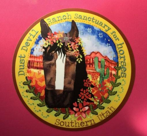 """4"""" Horse Sticker - Dust Devil Ranch Sanctuary for Horses"""