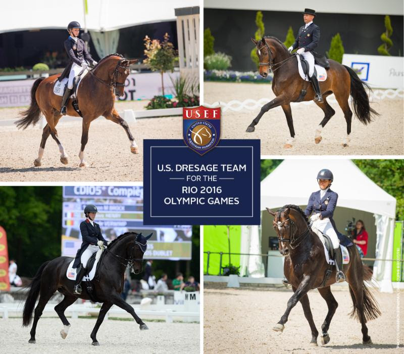 Usef Names U S Olympic Dressage Team For Rio 2016 Olympic
