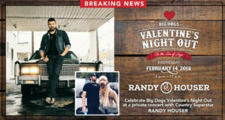 Big Dogs Valentines Night Out Brings Country Western Star