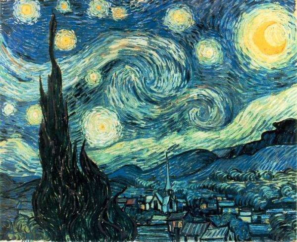 Starry Night Vincent Van Gogh Horseshoelucky