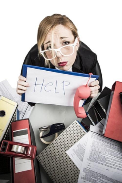 Stress in ufficio segretaria